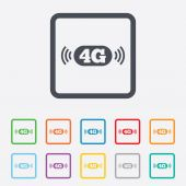 4G sign. Mobile telecommunications technology. — Stock Vector