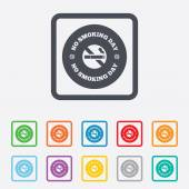 No smoking day sign icon. Quit smoking day. — Wektor stockowy
