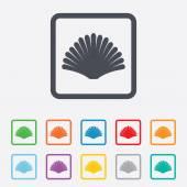 Sea shell sign icon. Conch symbol. Travel icon. — Stock Vector