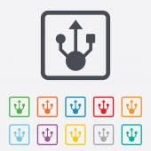 Usb sign icon. Usb flash drive symbol. — Stock Vector