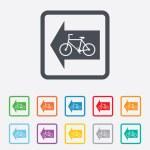 Постер, плакат: Bicycle path trail sign icon Cycle path