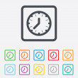 Clock time sign icon. Mechanical watch symbol. — Stock Vector #57199881