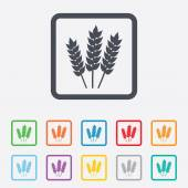 Agricultural sign icon. Gluten free or No gluten — Vettoriale Stock