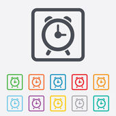Alarm clock sign icon. Wake up alarm symbol. — Stock Vector