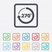 Angle 270 degrees sign icon. Geometry math symbol — Stockvektor
