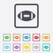 American football sign icon. Team sport game. — Stock Vector