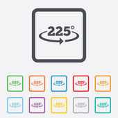 Angle 225 degrees sign icon. Geometry math symbol — Vetor de Stock