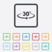 Winkel 30° zeichen symbol. geometrie math symbol — Stockvektor