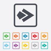 Arrow sign icon. Next button. Navigation symbol — Vector de stock