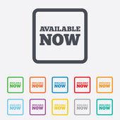Available now icon. Shopping button. — Stock Vector