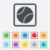 Baseball ball sign icon. Sport symbol. — Stockvektor