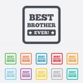 Best brother ever sign icon. Award symbol. — Stock Vector