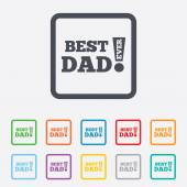 Best father ever sign icon. Award symbol. — Stock Vector