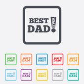 Melhor pai nunca assinar ícone. símbolo de prêmio. — Vetor de Stock