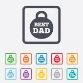 Best dad sign icon. Award weight symbol. — Stock Vector