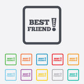 Best friend ever sign icon. Award symbol. — Stock Vector