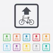 Bicycle path trail sign icon. Cycle path. — Vector de stock