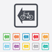 Bicycle path trail sign icon. Cycle path. — Stock Vector