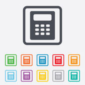 Calculator sign icon. Bookkeeping symbol. — Stock Vector