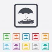 Car insurance sign icon. Protection symbol. — Stock Vector