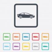Car sign icon. Sedan saloon symbol. — Stock Vector