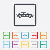 Taxi car sign icon. Sedan saloon symbol. — Stock Vector