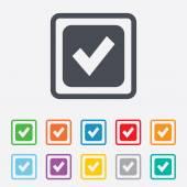 Check mark sign icon. Checkbox button. — Stock Vector