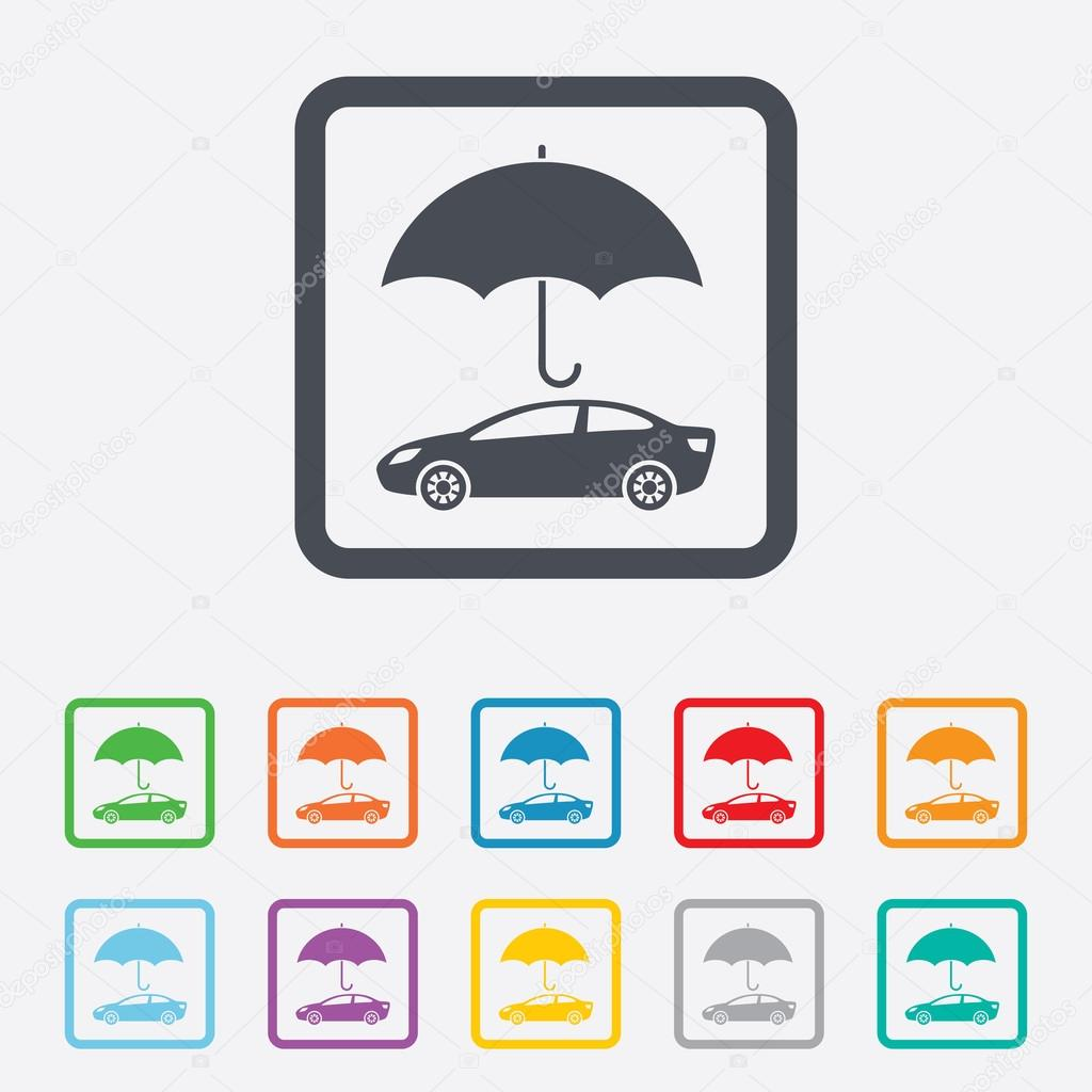 Ic ne de signe dassurance voiture symbole de protection - Symbole de protection ...
