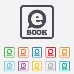 Постер, плакат: E Book sign icon Electronic book symbol