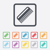 Comb hair sign icon. Barber symbol. — Stock Vector