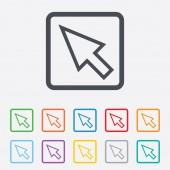 ícone de sinal do cursor do rato. símbolo de ponteiro. — Vetorial Stock