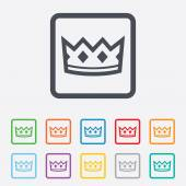 Crown sign icon. King hat symbol. — Stock Vector