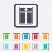 Cupboard sign icon. Modern furniture symbol. — Stock Vector