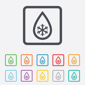 Defrosting sign icon. From ice to water symbol. — Stock Vector