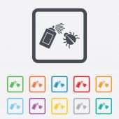 Bug disinfection sign icon. Fumigation symbol. — Stock Vector