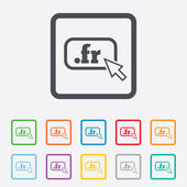 Domain FR sign icon. Top-level internet domain — Stock Vector
