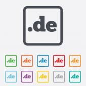 Domain de zeichen symbol. internet-domäne der obersten ebene — Stockvektor