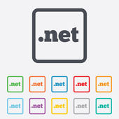Domain NET sign icon. Top-level internet domain — Stock Vector