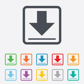 Download icon. Upload button. — Stock Vector