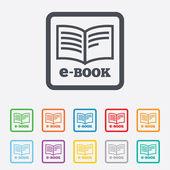 E-Book sign icon. Electronic book symbol. — Stock Vector