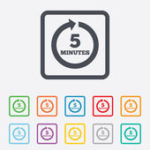 Every 5 minutes sign icon. Full rotation arrow. — Vetorial Stock