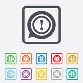 ícone de sinal de exclamação. símbolo de atenção. — Vetorial Stock