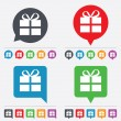 Gift box sign icon. Present symbol. — Stock Vector #57666241