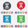 Hourglass sign icon. Sand timer symbol. — Vecteur #57668153