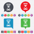 Hourglass sign icon. Sand timer symbol. — ストックベクタ #57668243