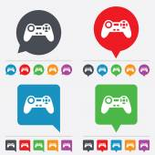 Joystick sign icon. Video game symbol. — 图库矢量图片