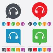 Headphones sign icon. Earphones button. — Stock Vector