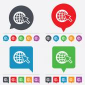 Internet sign icon. World wide web symbol. — Stok Vektör