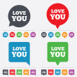 Love you sign icon. Valentines day symbol. — Stock Vector #57670115