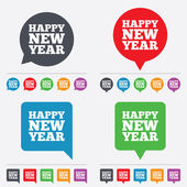 Happy new year sign icon. Christmas symbol. — Stock Vector